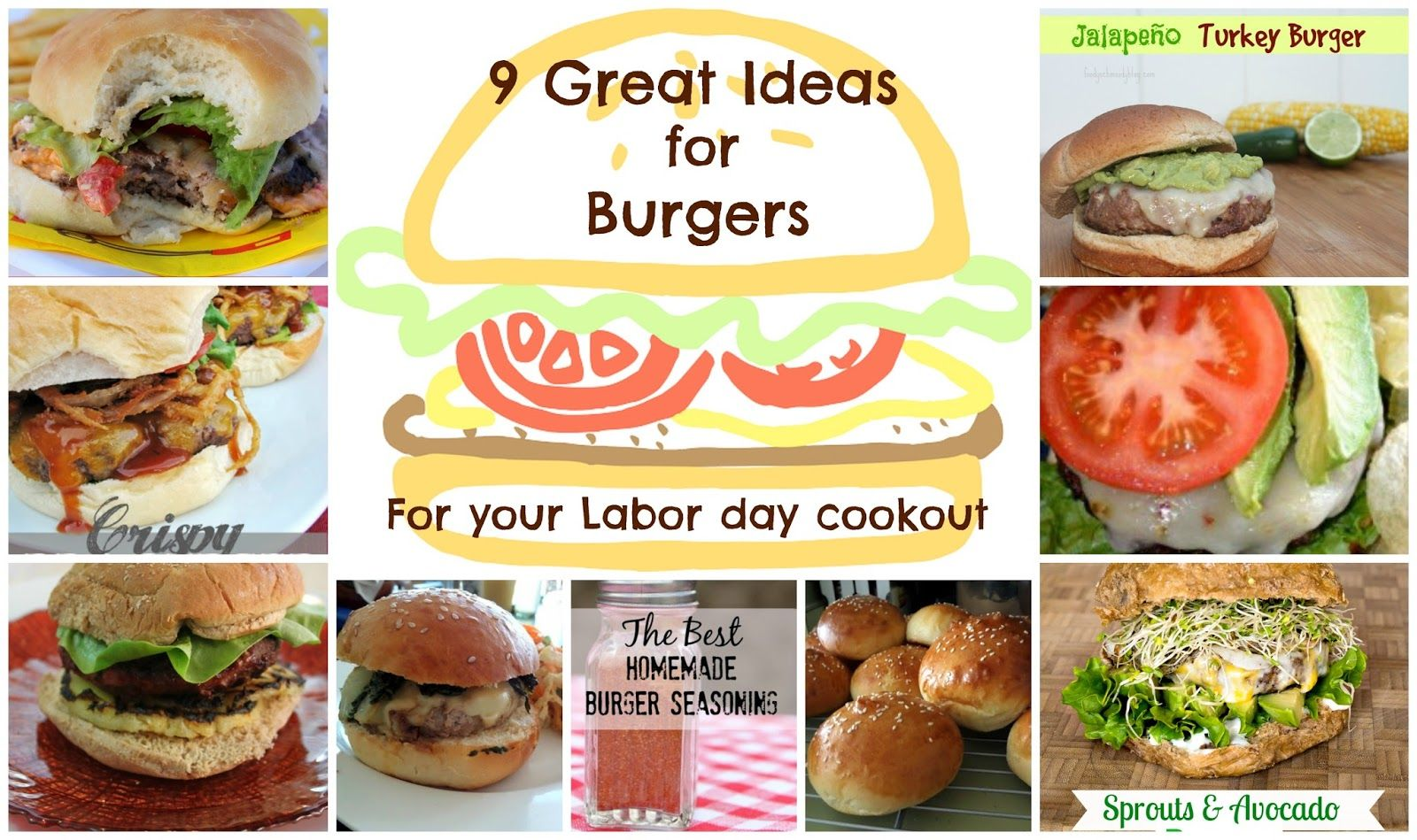 9 Great Ideas For Burgers For Your Labor Day Cookout Burger Seasoning Best Homemade Burgers Homemade Burgers