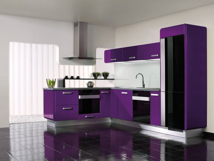 Wanting To Have This Purple Themed Kitchen For Myself