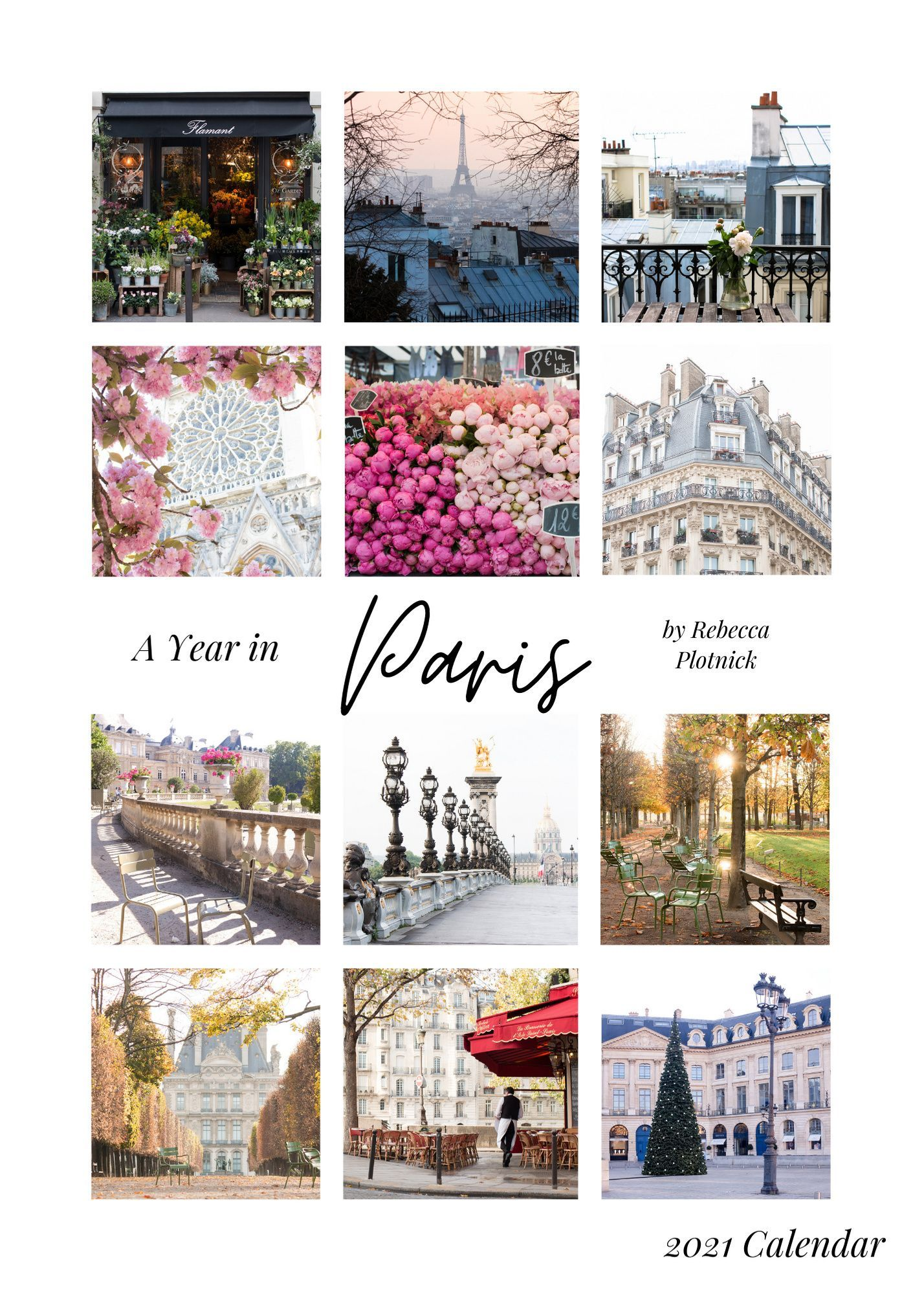 A Year in Paris Calendar in 2020 Paris, Francophile