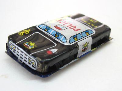 1950s Tin toy police car