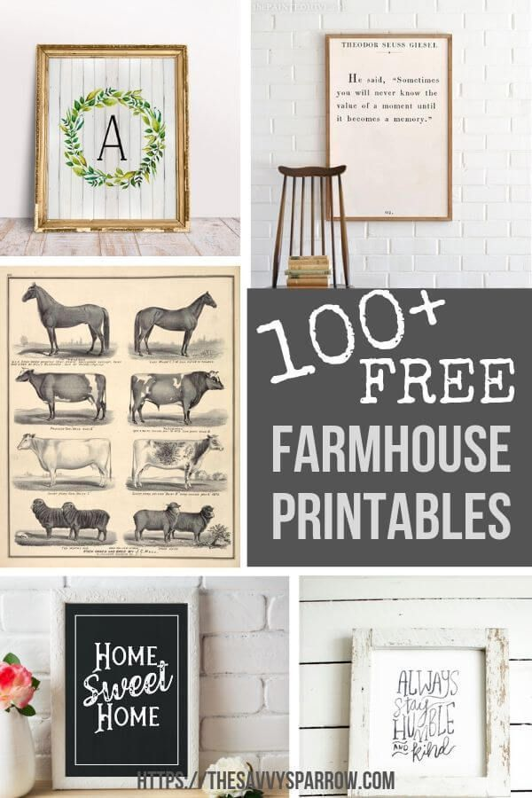 Free Farmhouse Printables for Easy DIY Wall Art | The Savvy Sparrow -   22 home decor for cheap diy wall art ideas