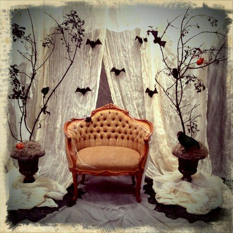 Halloween Photo backdrop my daughter and I designed for her - halloween backdrop