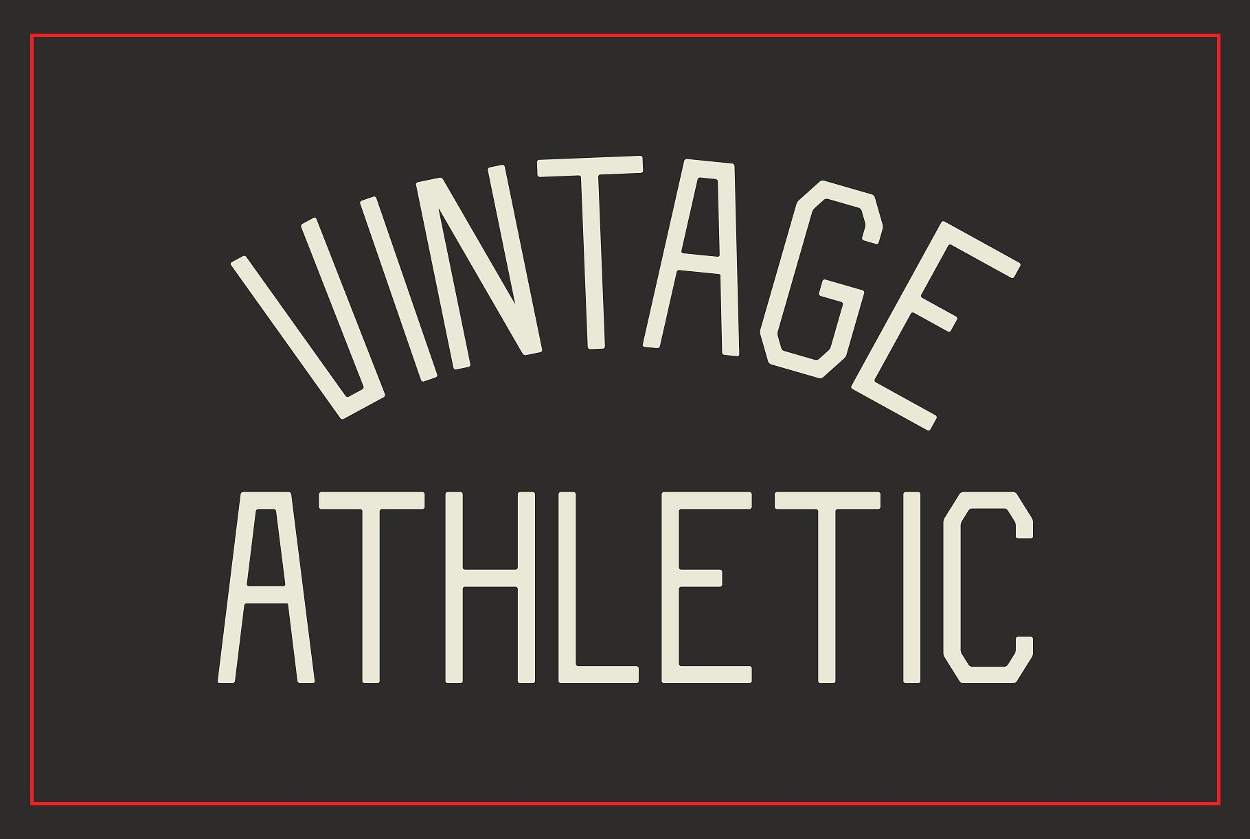 Vintage Athletic Block Typeface Typeface Athletic Fonts Types Of Lettering