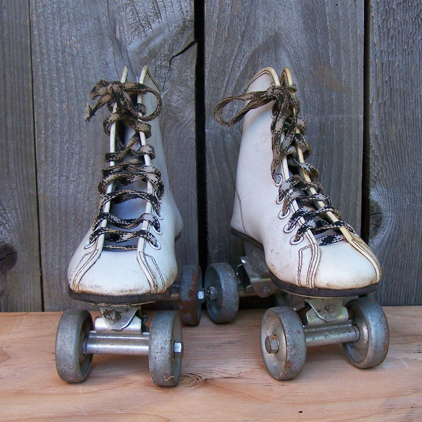My first roller skates had metal wheels like these! They would make sparks off the sidewalk!