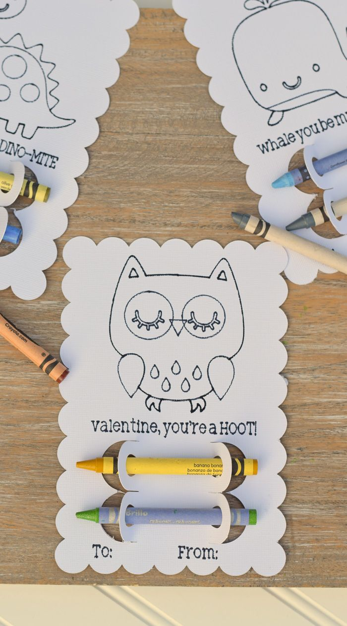 DIY Crayon Classroom Valentines with Cricut Explore Air 2 and card