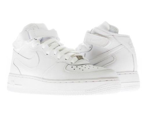 nike air force 1 mid (gs) ragazzi, scarpe da basket bianco / white m