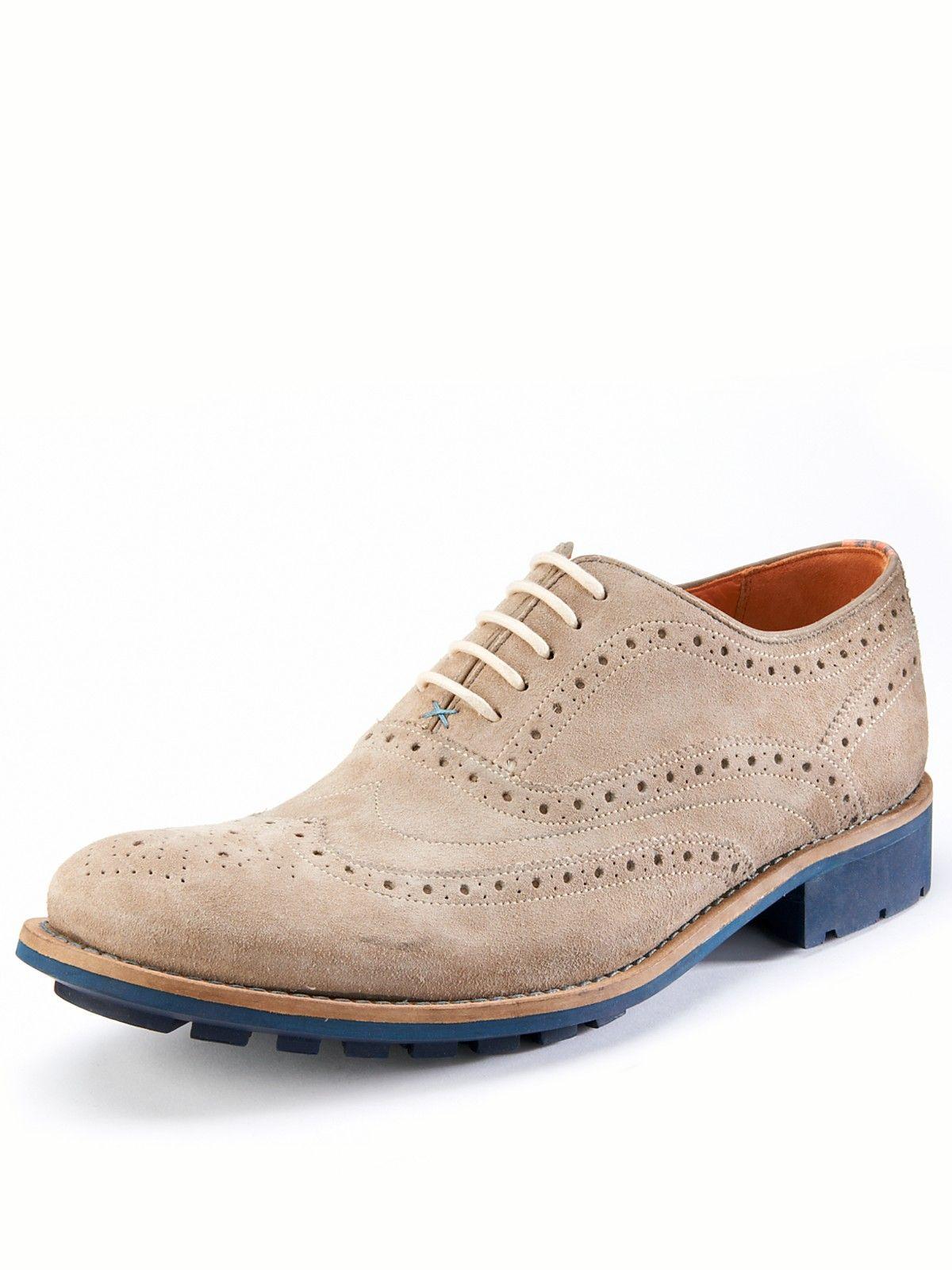a59f55094e620 Ted Baker Mens Guri Rub Suede Brogue Shoes Littlewoods.com