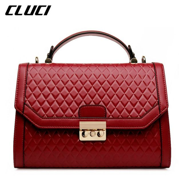 e111df98f19 CLUCI Luxury Fashion Women Handbag Genuine Leather Bag Brand Small ...