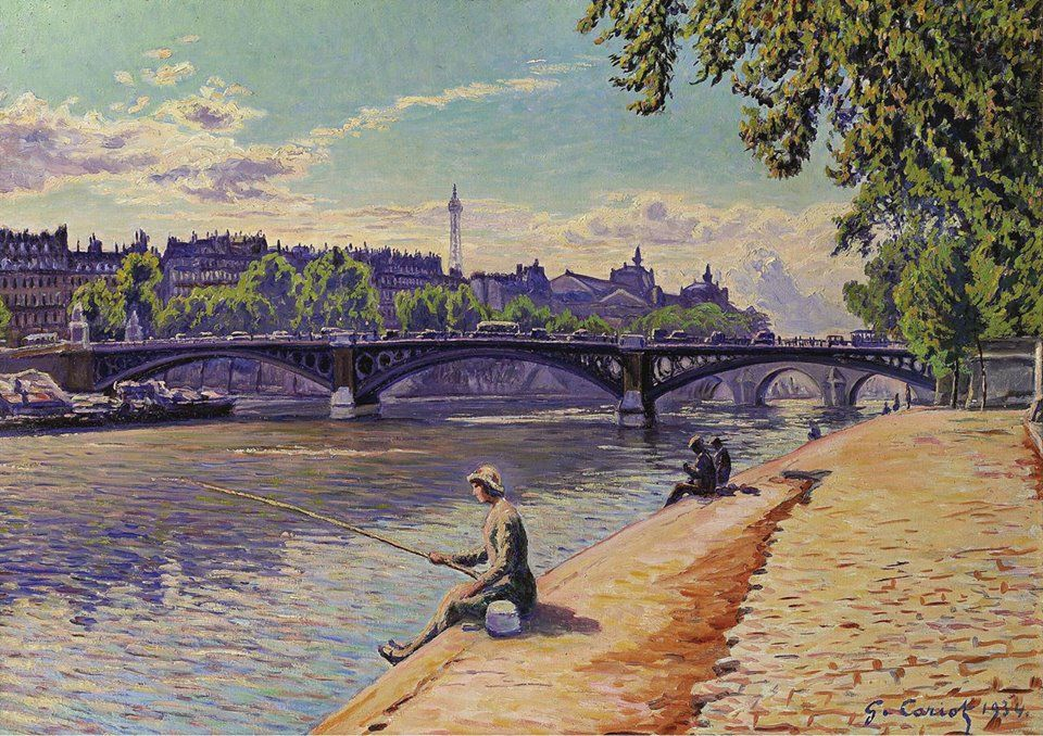 Fishing Woman Gustave Cariot 1934 Art Art Art