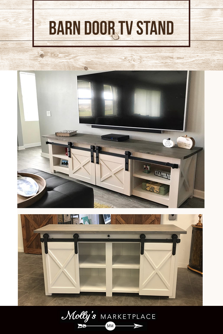 Dale Custom Tv Stand With Barn Doors Barn Door Tv Stand Long Tv Stand Sliding Barn Door Hardware