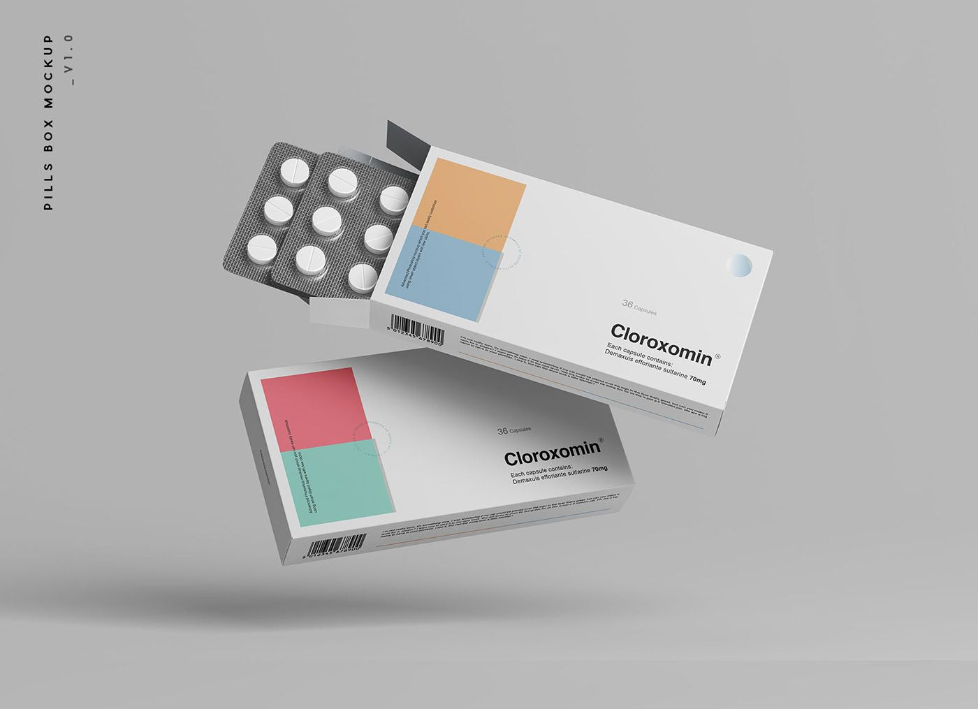 Download Pills Box Packaging Mockup On Behance Packaging Mockup Box Mockup Pill Packaging Design