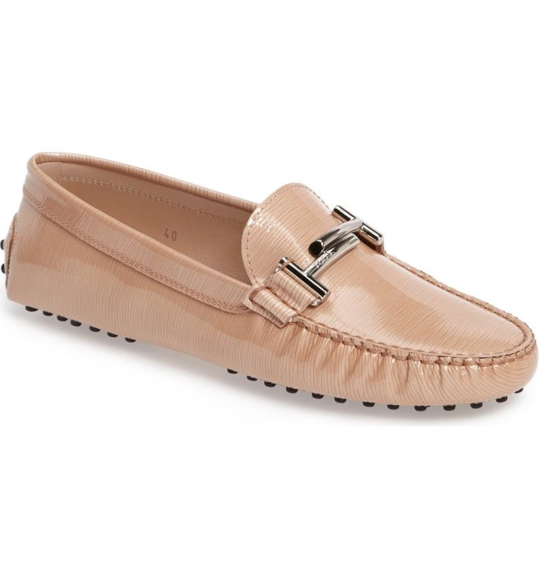Main Image - Tod's Gommino Double-T Striated Driving Shoe (Women)