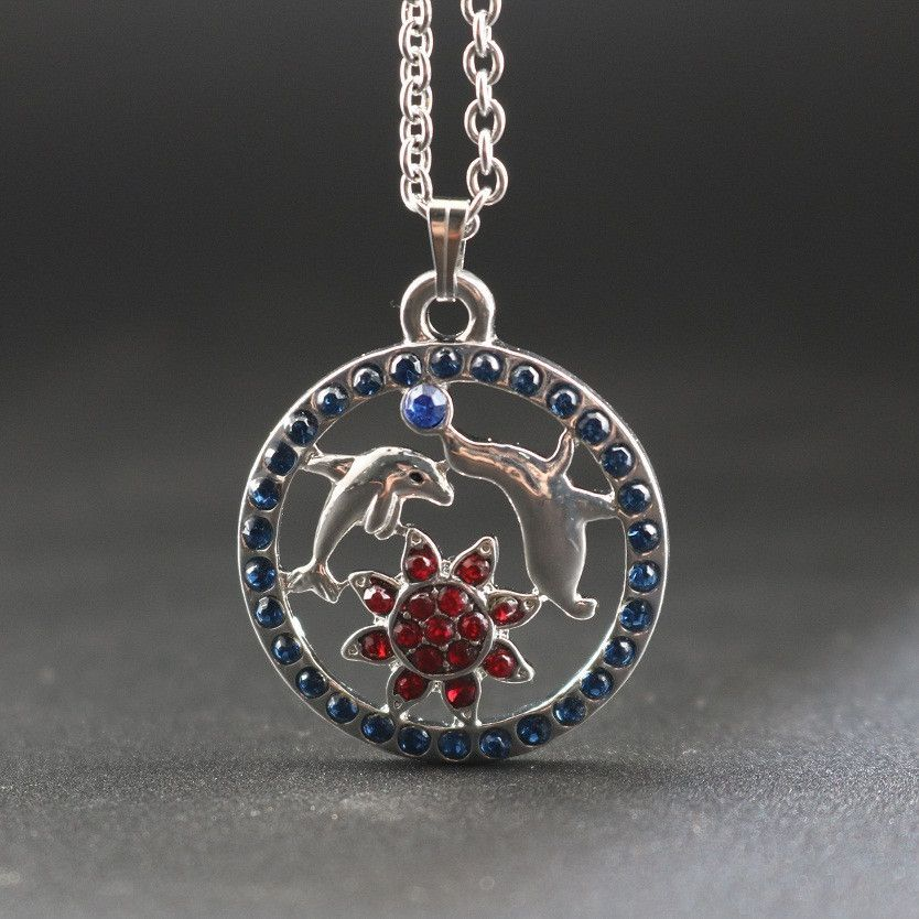 Dolphin sea lion pendant necklace pendants products and lion dolphin sea lion pendant necklace mozeypictures Image collections