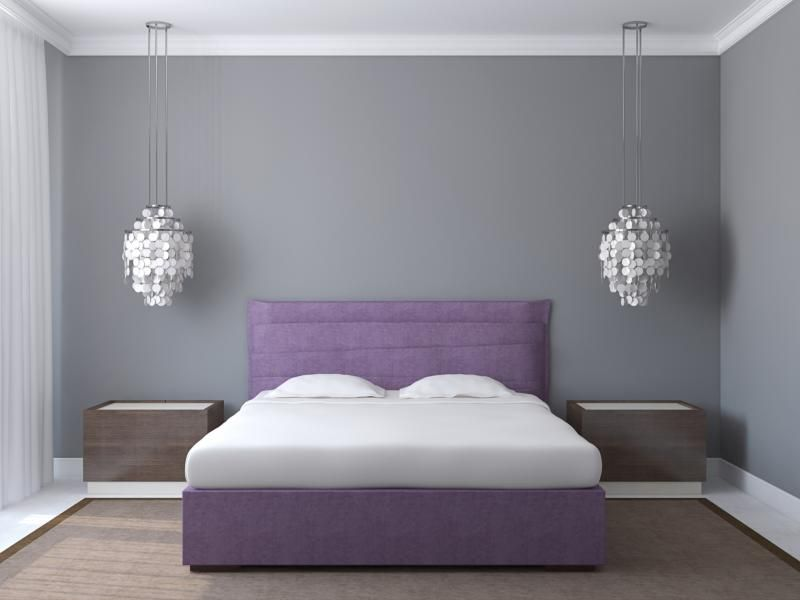How To Make Gray Walls Look Less Purple Guest Bedroom Remodel Modern Bedroom Design Small Bedroom Remodel