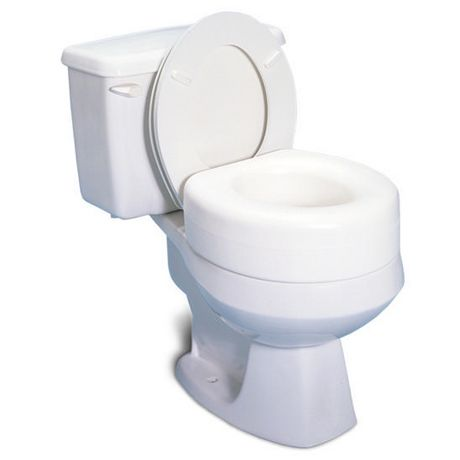 Profilio Portable Raised Toilet Seat White 4 Inch Toilet Seat