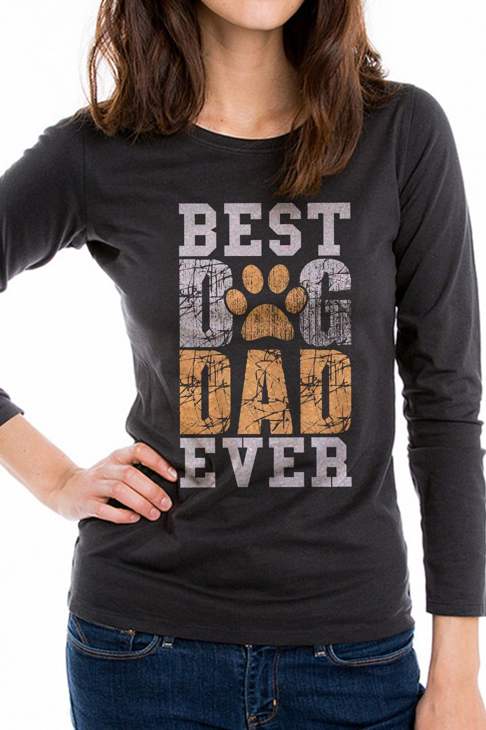 6baeee7f Best Dog Dad Ever Funny T-Shirt for a Great gift for amazing dog owners