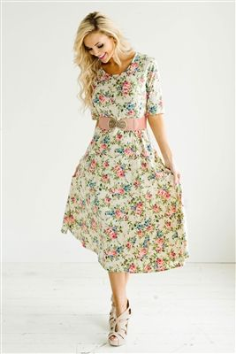 ac2bdb9b078ba Pretty Floral Modest Dress Bridesmaids Dress, Church Dresses, dresses for…