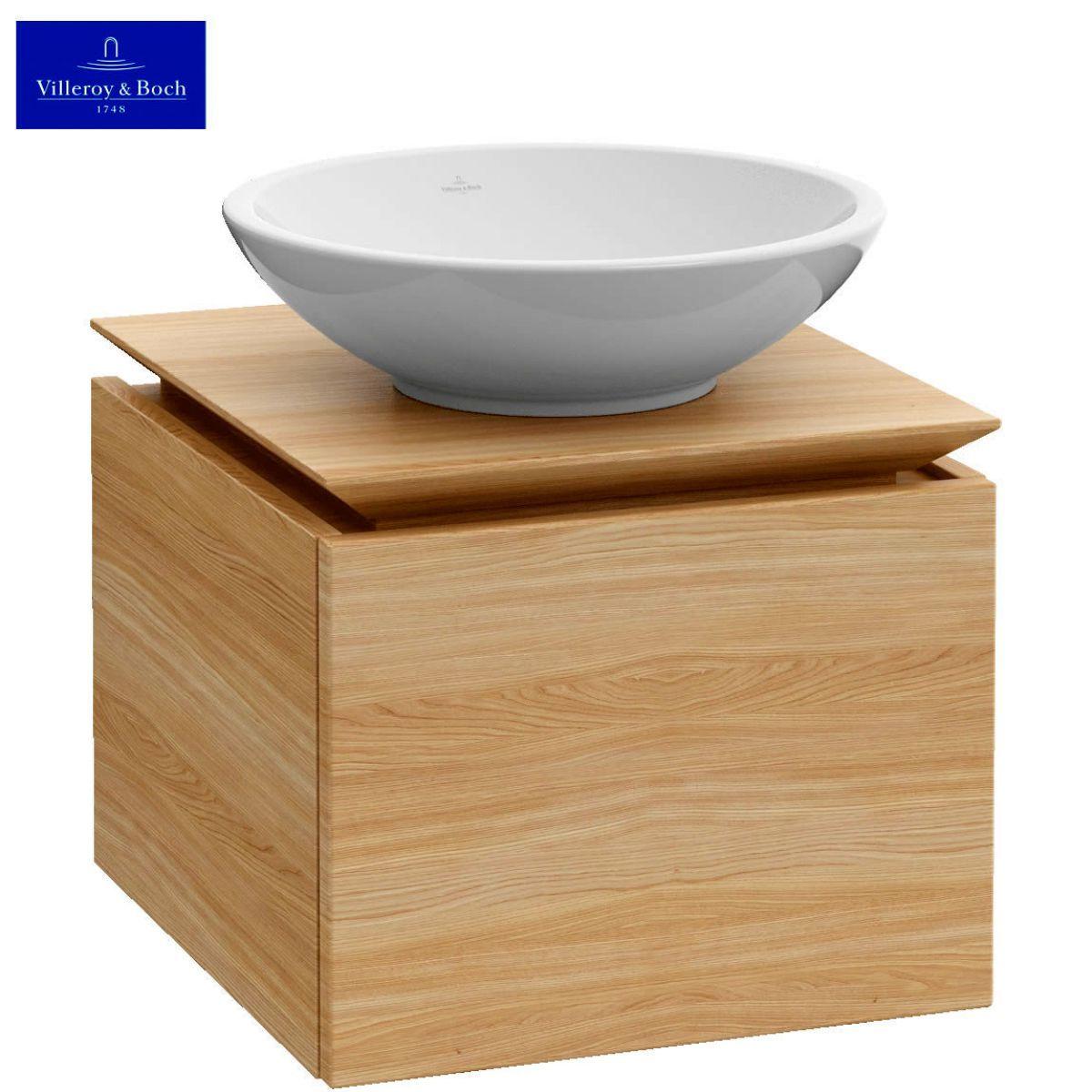 Villeroy and boch bathroom cabinets - Villeroy Boch Legato 450mm In Elm Impresso