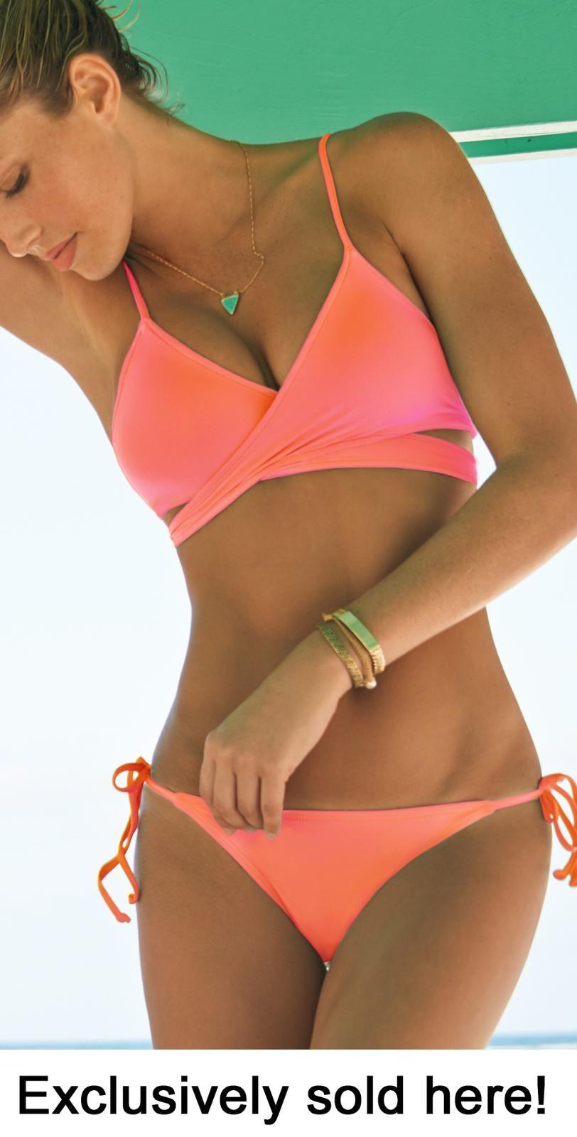 98bd586cd704f South Beach Swimsuits - Vix Swimwear, Gottex Swimwear, Vitamin A Swimwear,  Ann Cole Swimwear. L Space 2014 EXCLUSIVE Electric Coral Chloe Wrap ...