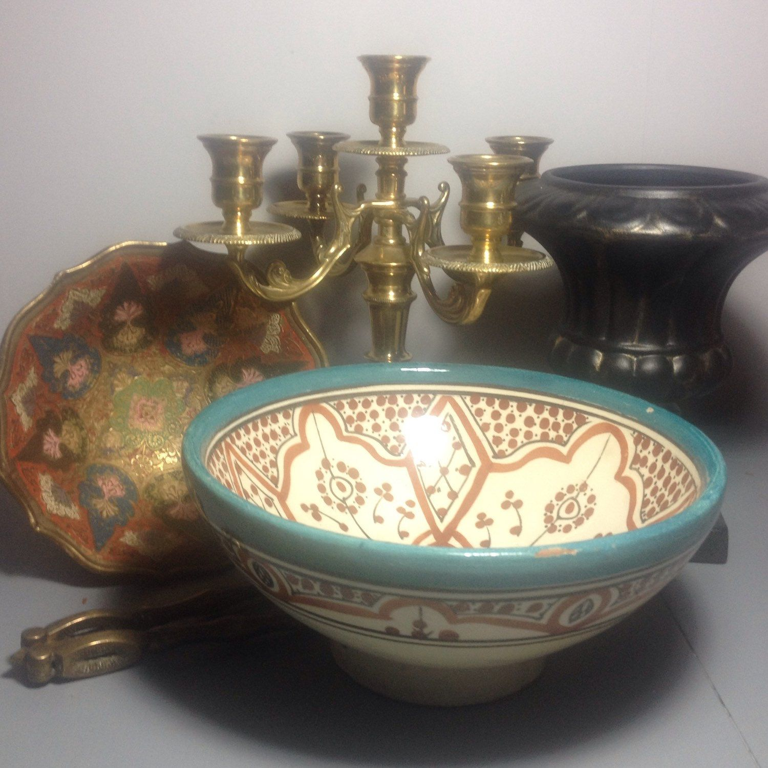 Coming very soon to Suki and Polly! Brass enamelled Indian ...