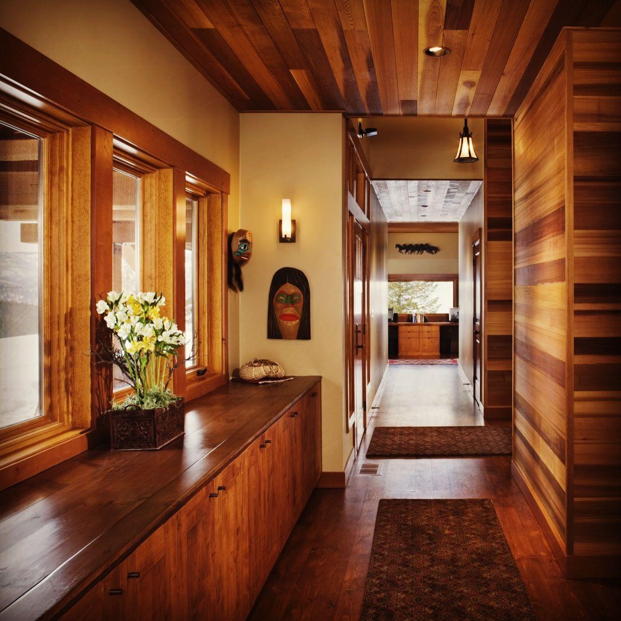 Wood Ceilings, Hallway Designs