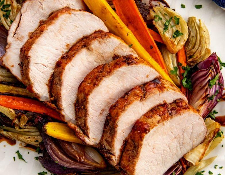 Boneless pork loin is a classic cookonce eattwice dish