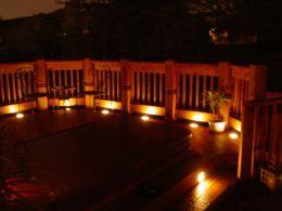 Deck Lighting Low Voltage Installation Of