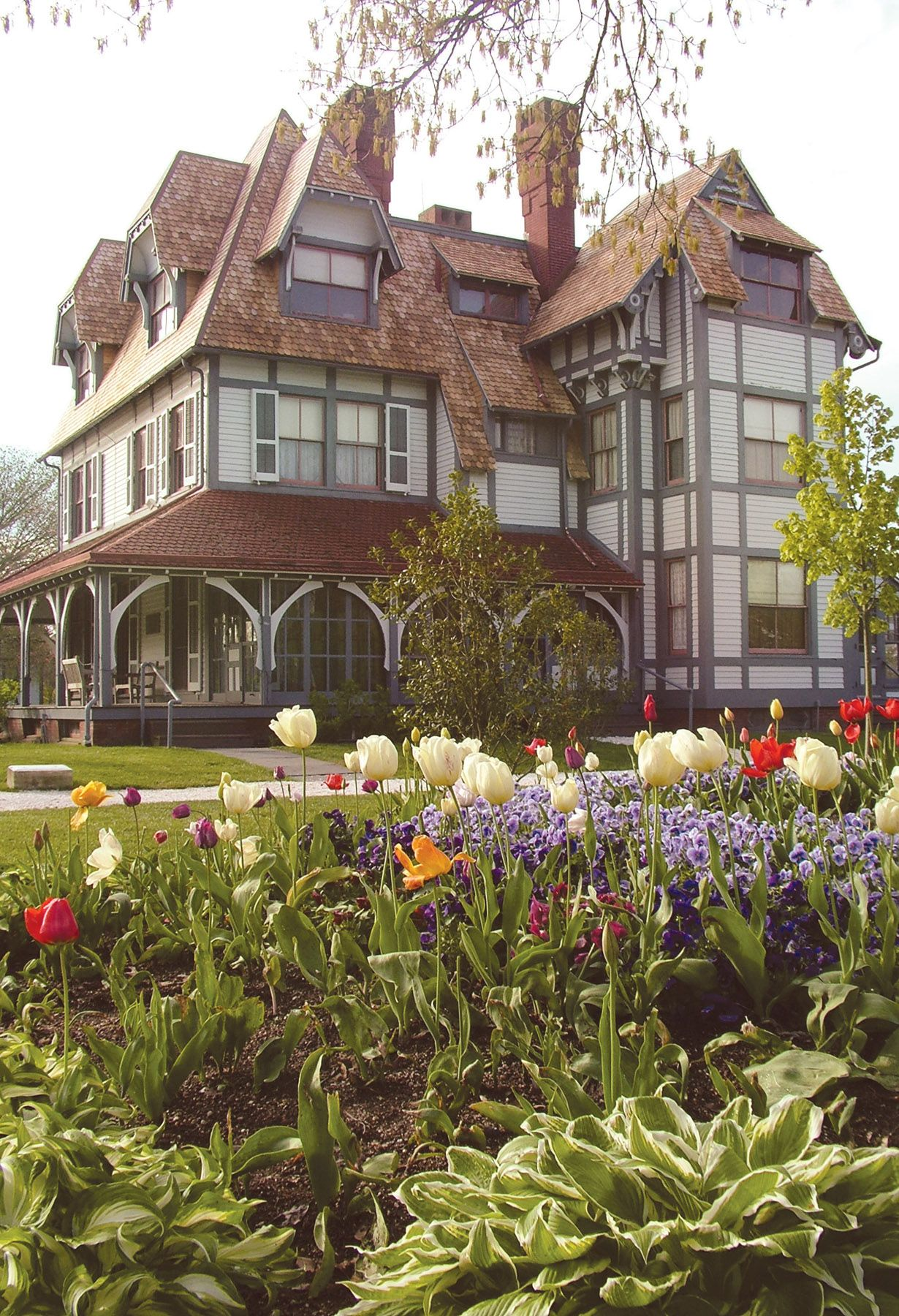Emlen Physick Estate (shown here), visitors can stroll through the restored grounds and gardens and tour the 1879 home that is Cape May NJ's only Victorian house museum.