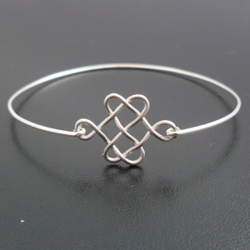 Silver celtic knot bracelet