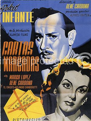 Cartas Marcadas Theatrical Release reproduction Mexican Cinema Poster 24x36 inch