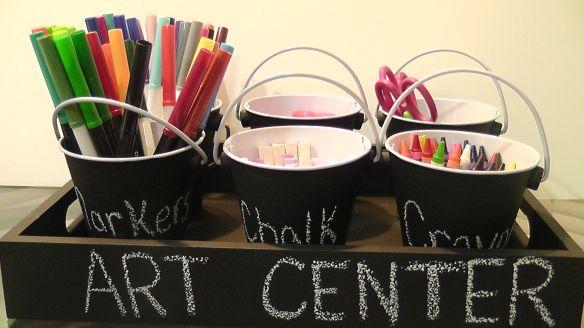 DIY Chalkboard Art Center/Snack Holder | Color Wheel Meals