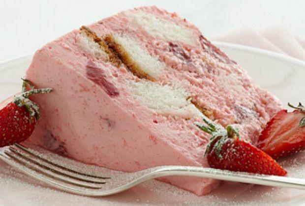 Angel Strawberry Bavarian Cake