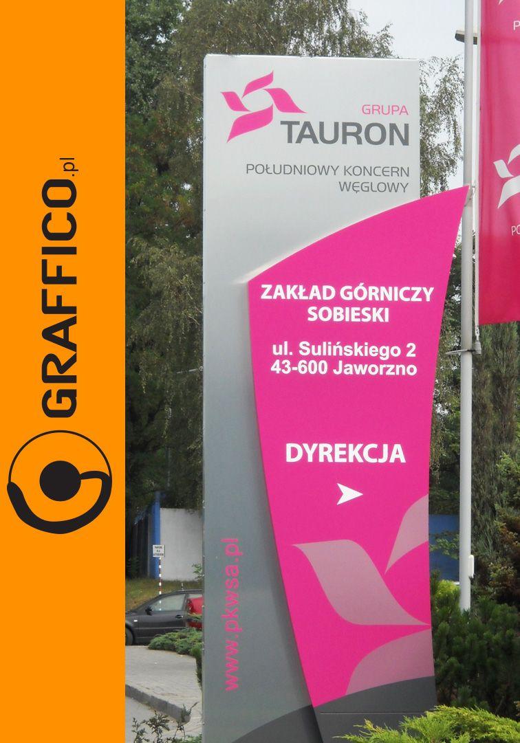 Konstrukcje Reklamowe Pylony Reklamowe Pylon Reklamowy Graffico  # Tauron Muebles Mercadolibre