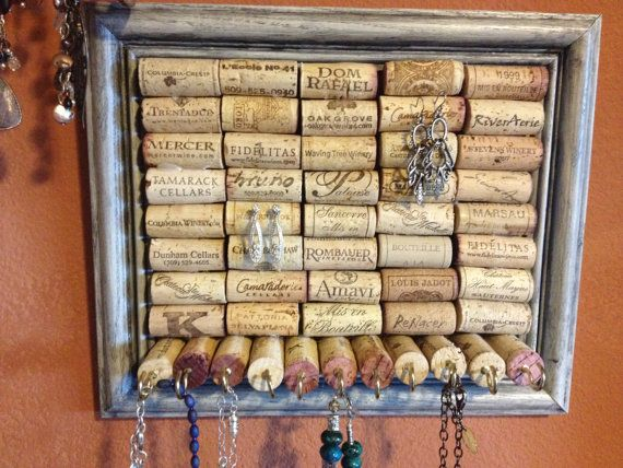 Really unique idea for storing and displaying jewelry corks