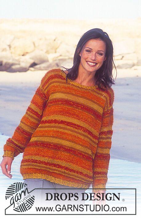 DROPS genser med striper i 4 garnkvaliteter ~ DROPS Design - ensfarget takk
