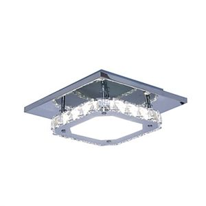 moderne contemporain cristal led lampe blanche acier. Black Bedroom Furniture Sets. Home Design Ideas