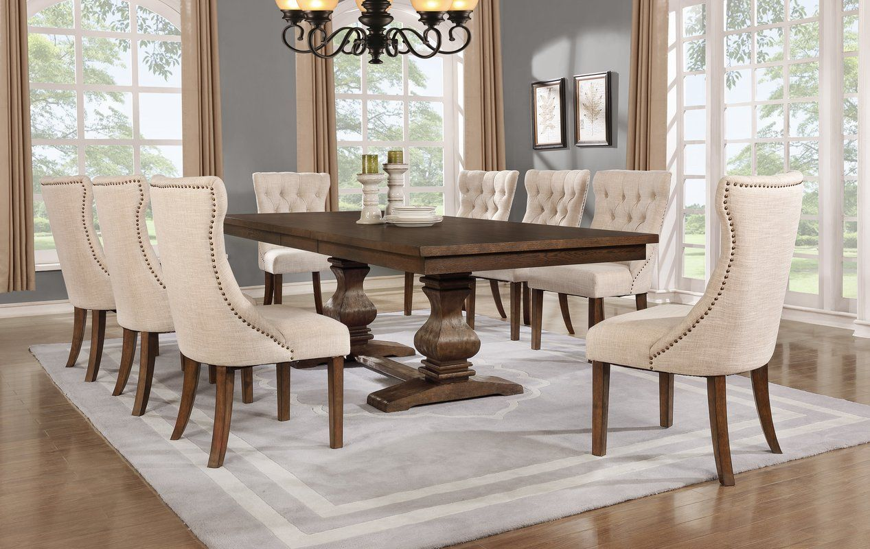 Richmond 9 Piece Dining Set Rustic Farmhouse Dining Table