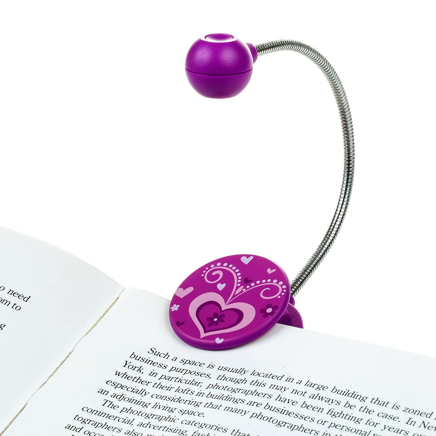 Amazon Book Light Inspiration Disc Led Reading Lightwithit  Purple  Led Book Light With Design Inspiration