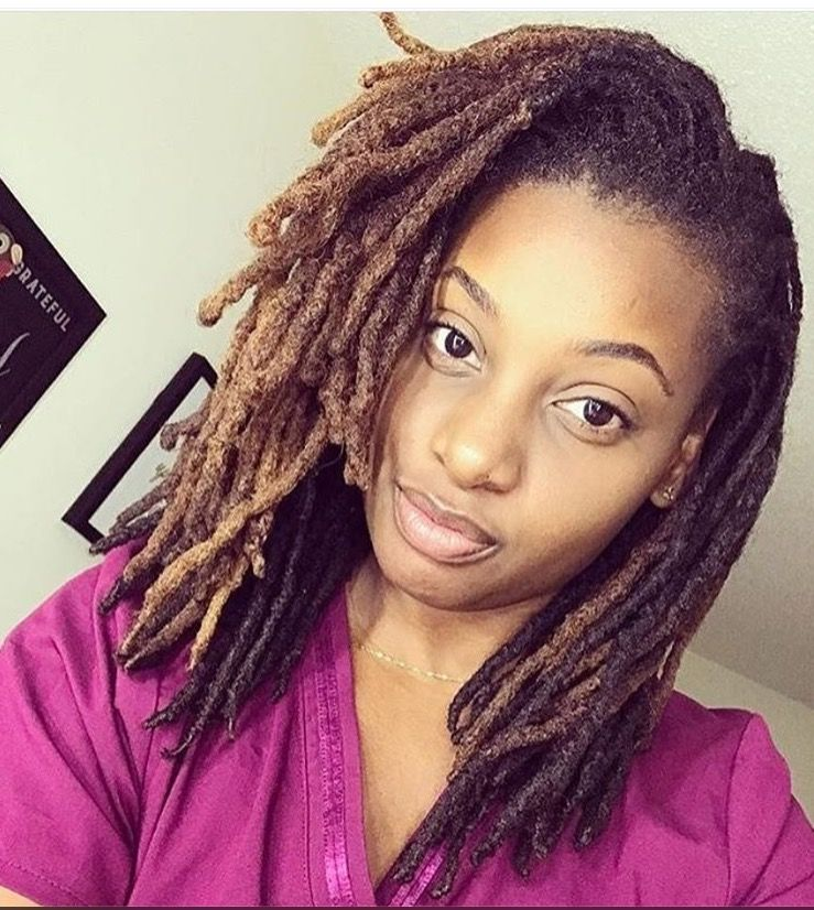 Shoulder length colored locs | Loc'd and lovin' it | Hair ...