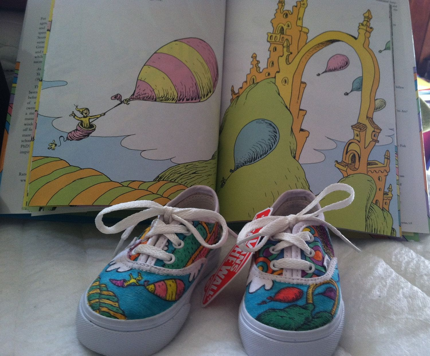 Dr Seuss hand drawn baby shoes by MandyB243 on Etsy, $65.00
