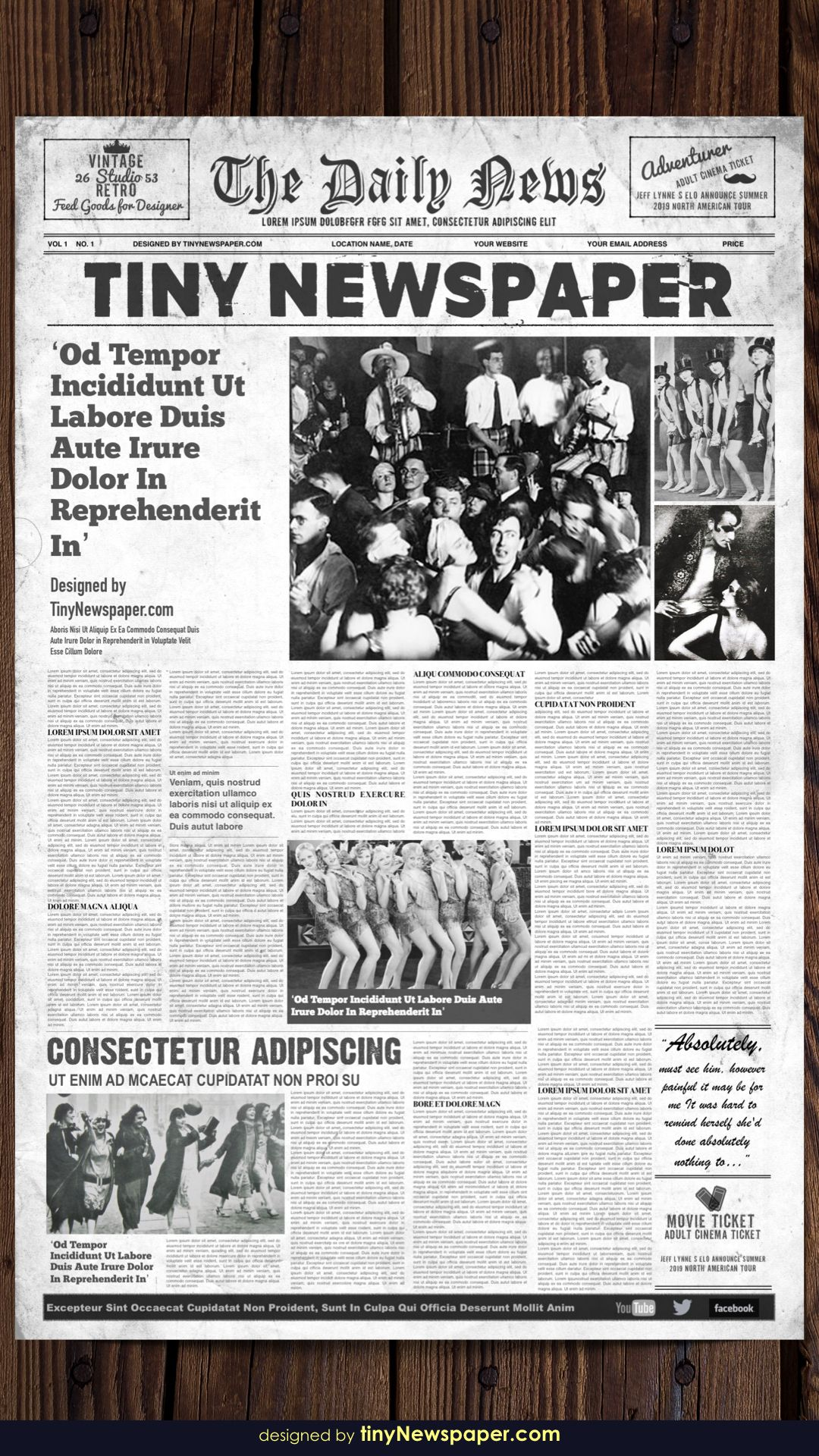 1920 S Vintage Newspaper Template Word For Old Newspaper Template Word Free Best Template Ideas Newspaper Template Word Newspaper Template Vintage Newspaper