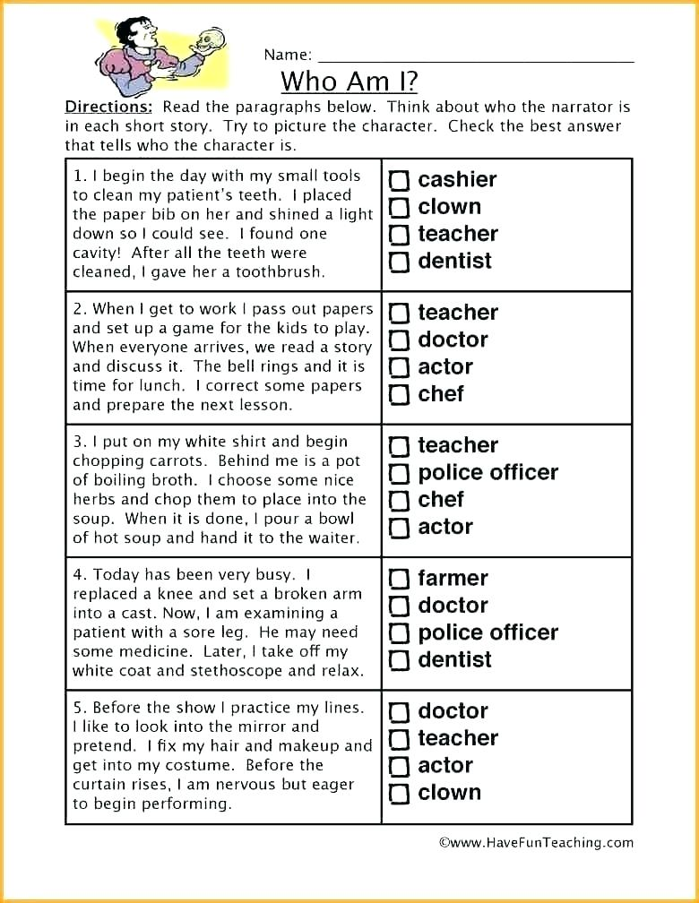 Worksheets 4th Grade Reading Skills Reading Comprehension Worksheets,  Inference, Making Inferences