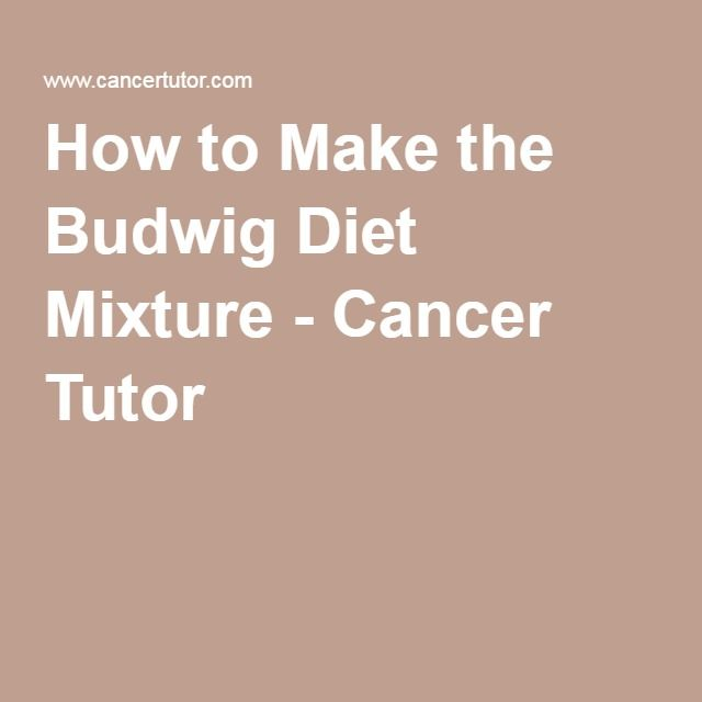 How to Make the Budwig Diet Mixture - Cancer Tutor