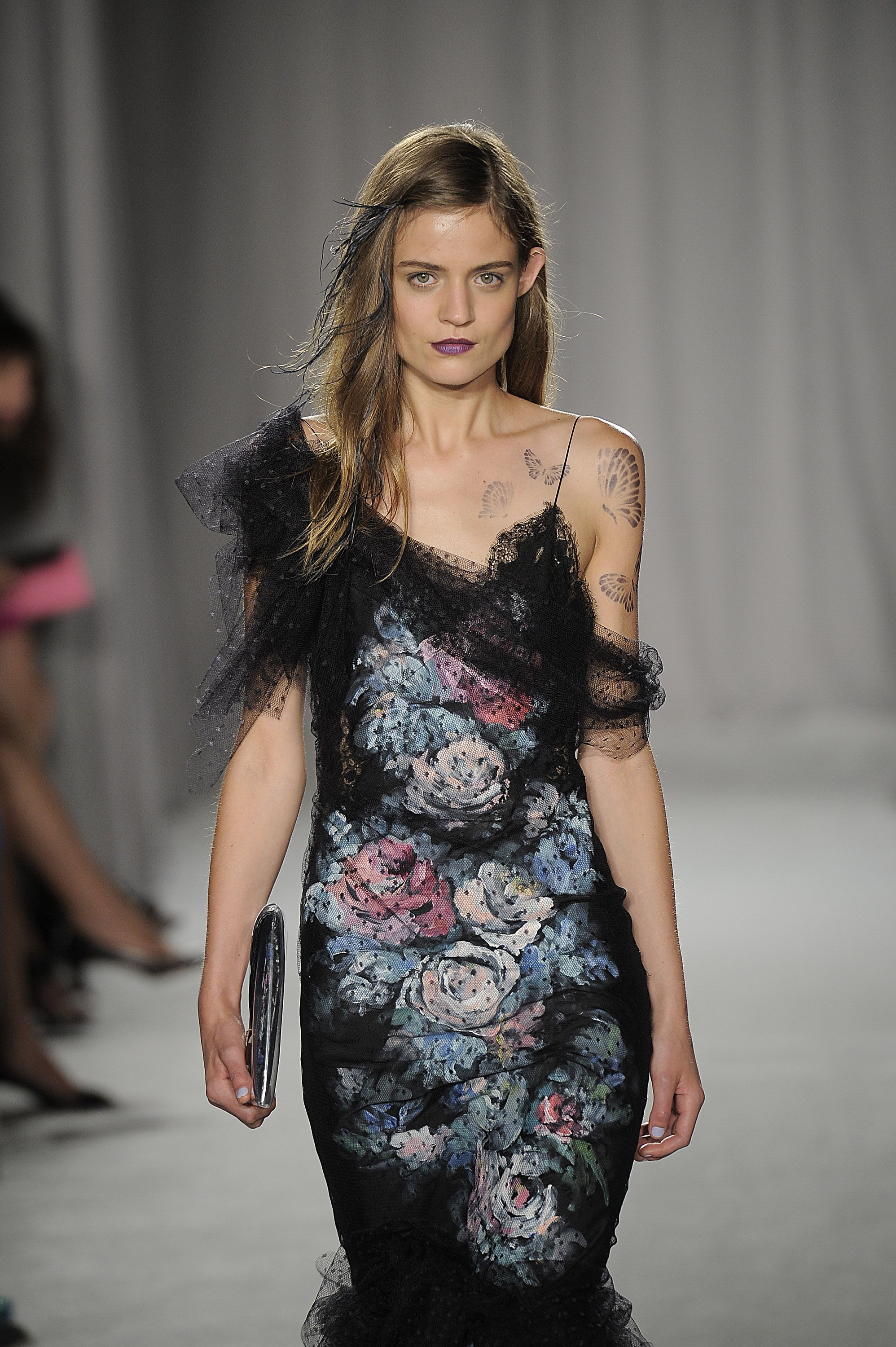 Marchesa florals at #NYFW (Credit: Getty)