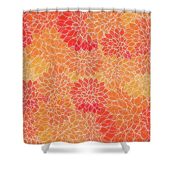 Chrysanthemum Shower Curtain Vibrant Floral by MScottPhotography ...