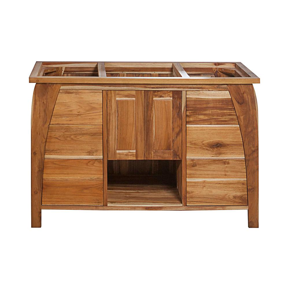 Ecodecors Tranquility 48 In L Teak Vanity Cabinet Only In Natural