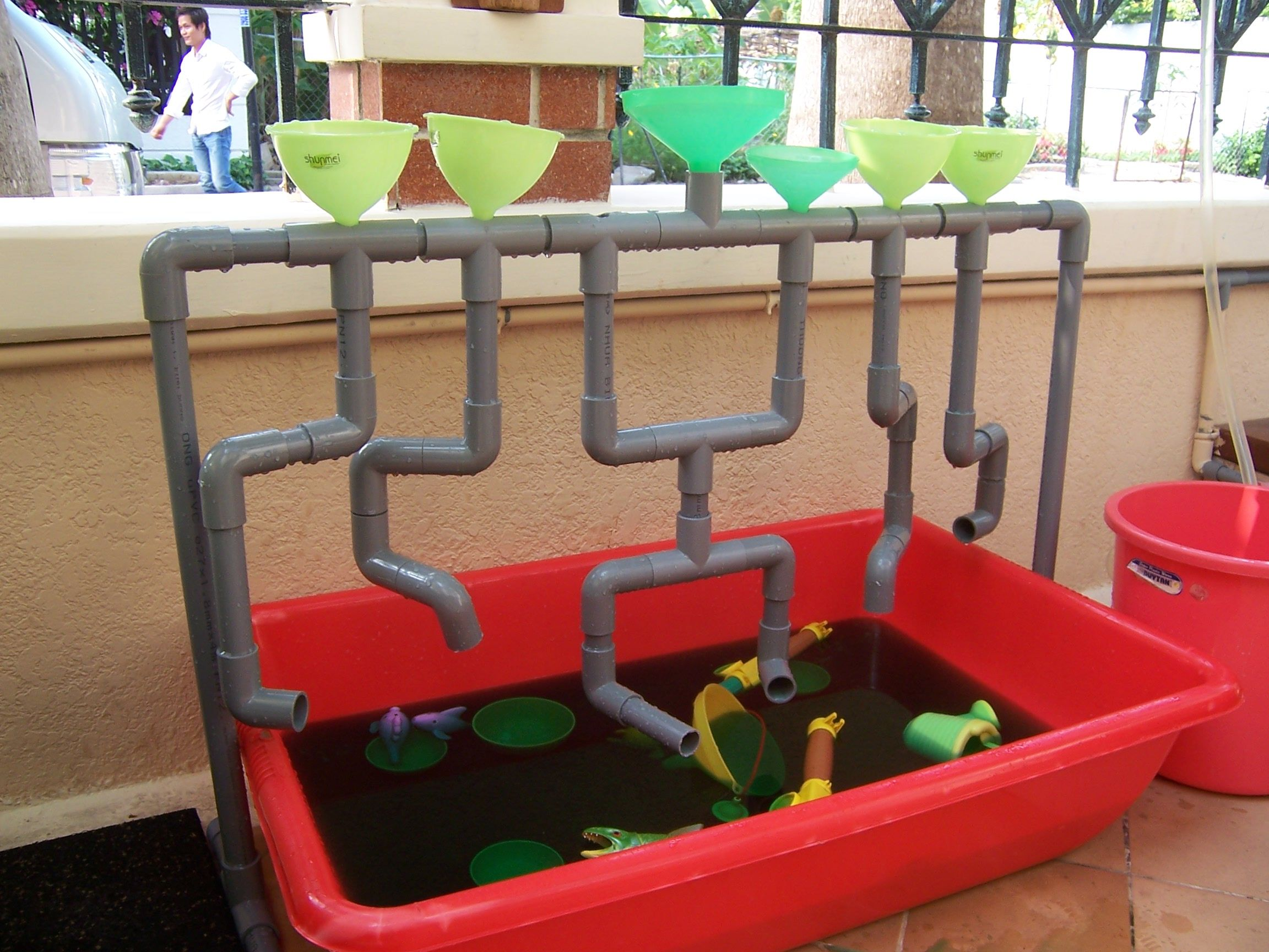 Our Outdoor Water Play Idea For A Water Sensory Tub