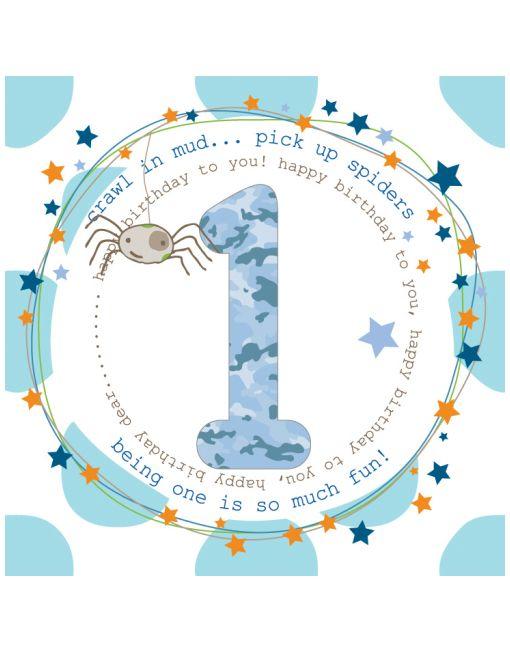 1st Birthday Card For Boys