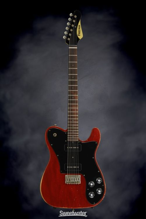 Friedman Vintage T w/ Classic 90s, Mahogany Body & Rosewood Fingerboard, Trans Red | Sweetwater.com
