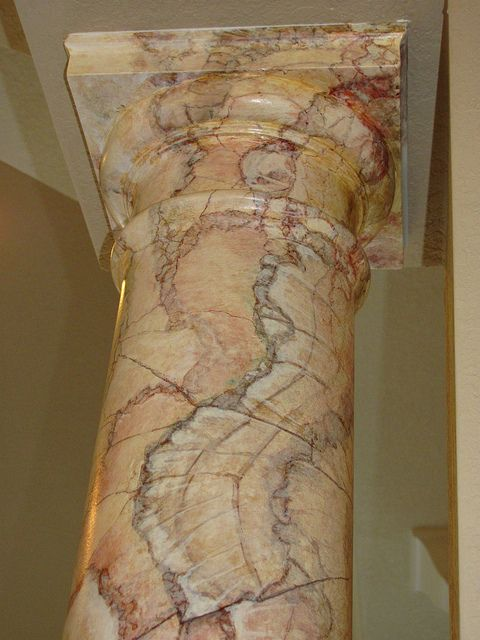 Faux Finishing Columns Painting Marble Creative Decor